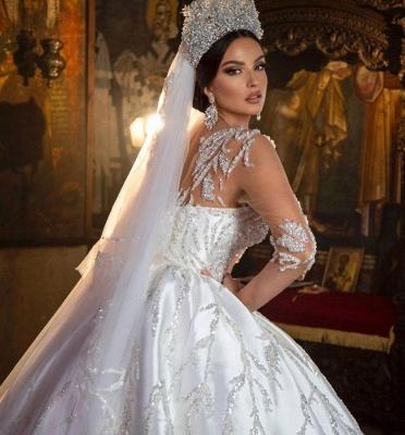 Robes de mariée extravagantes princesse | Robes de mariée à manches_4