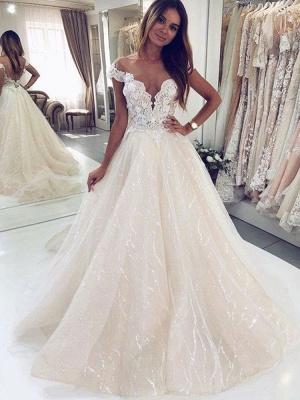 Robes de mariée paillettes   Robes de mariée Une ligne en dentelle_2