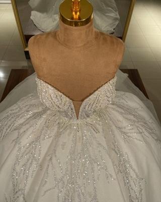 Robes de mariée extravagantes en ligne | Robes de mariée princesse pailletée_3