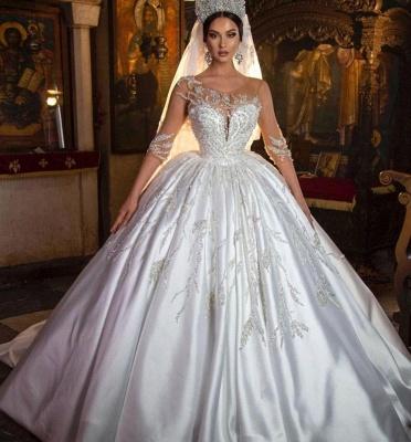 Robes de mariée extravagantes princesse | Robes de mariée à manches_2