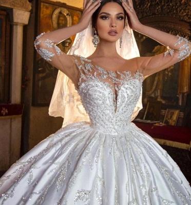 Robes de mariée extravagantes princesse | Robes de mariée à manches_6