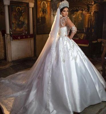 Robes de mariée extravagantes princesse | Robes de mariée à manches_3