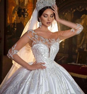 Robes de mariée extravagantes princesse | Robes de mariée à manches_5