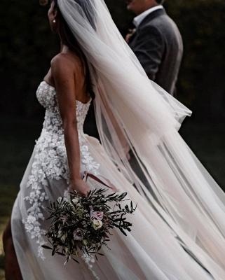 Robes de mariée bohème élégantes   Robes de mariée une ligne de dentelle_2