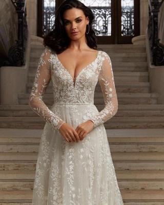 Robes de mariée bohème à manches   Robes de mariée en dentelle_2