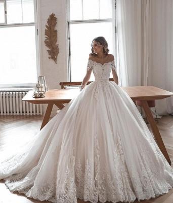 Robes de mariée de créateur avec manches | Robes de mariée Une ligne en dentelle_2