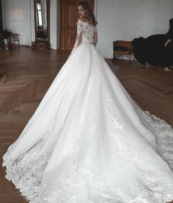 Robes de mariée de créateur avec manches | Robes de mariée Une ligne en dentelle_4