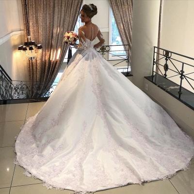 Belles robes de mariée à manches | Robes de mariée Une ligne en dentelle_3