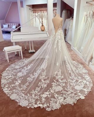 Robes de mariée magnifiques A Line Lace | Robes De Mariée Pas Cher En Ligne_3