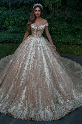 Robes de mariée de créateurs princesse paillettes   Robes de mariée avec dentelle en ligne_1