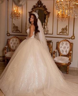 Robes de mariée princesse paillettes | Robes de mariée à manches_3