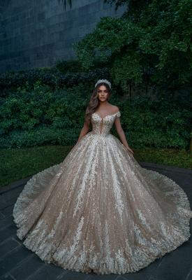 Robes de mariée de créateurs princesse paillettes   Robes de mariée avec dentelle en ligne_2