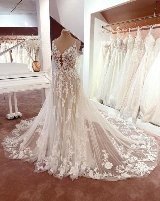 Robes de mariée magnifiques A Line Lace | Robes De Mariée Pas Cher En Ligne_2