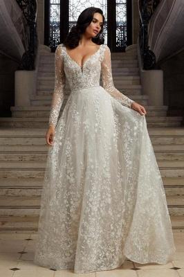 Robes de mariée bohème à manches   Robes de mariée en dentelle_1