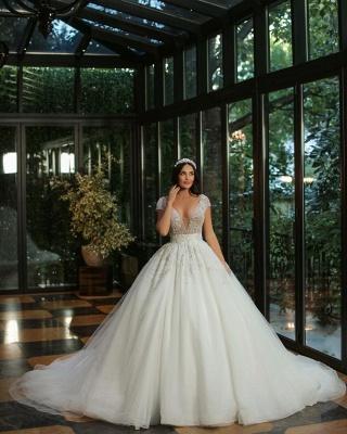 Robes de mariée de luxe Une ligne   Robes de mariée à paillettes_2