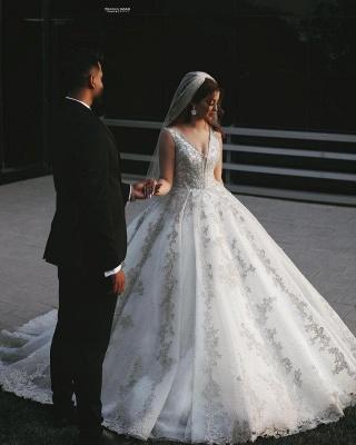 Robes de mariée de créateurs Une ligne   Robes de mariée en dentelle paillettes_2