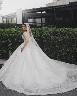 Robes de mariée de créateurs Une ligne   Robes de mariée en dentelle paillettes_3