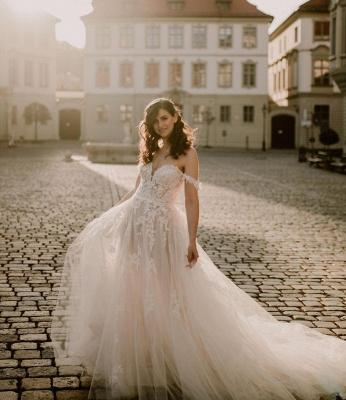 Robes de mariée simples en dentelle | Acheter des robes de mariée bohème en ligne_2