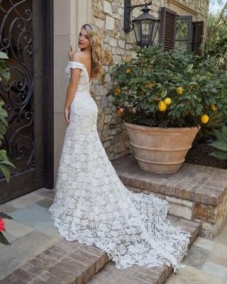 Robe de mariée de créateur en dentelle de sirène | Robes de mariée blanches_2