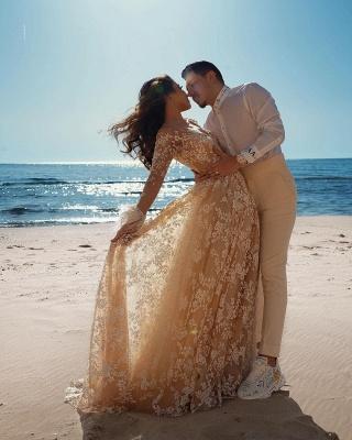 Robes de mariée de créateur avec manches   Robes de mariée en dentelle_6