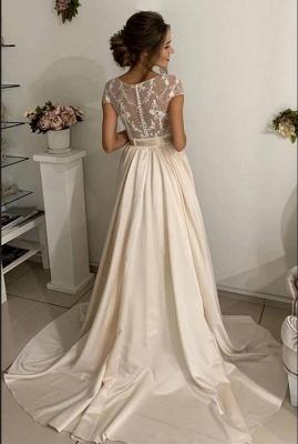 Robes de mariée simples avec dentelle   Robes de mariée pas cher_2