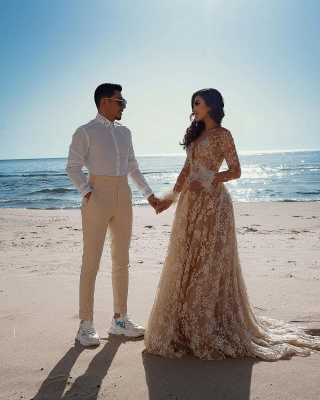 Robes de mariée de créateur avec manches   Robes de mariée en dentelle_4