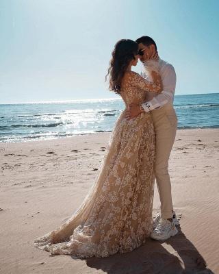 Robes de mariée de créateur avec manches   Robes de mariée en dentelle_3
