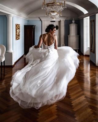 Robes de mariée élégantes A Line Lace   Robes De Mariée Pas Cher En Ligne_3