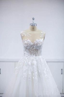 Robes de mariée modernes A Line Lace   Robes De Mariée Pas Cher En Ligne_6
