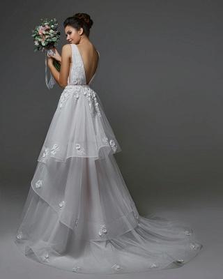 Belles robes de mariée Une ligne   Robes de mariée décolleté en V_2