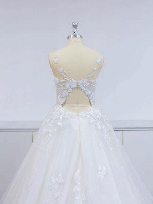 Robes de mariée modernes A Line Lace   Robes De Mariée Pas Cher En Ligne_5