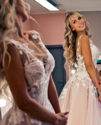 Robes de mariée modernes A Line Lace   Robes De Mariée Pas Cher En Ligne_2