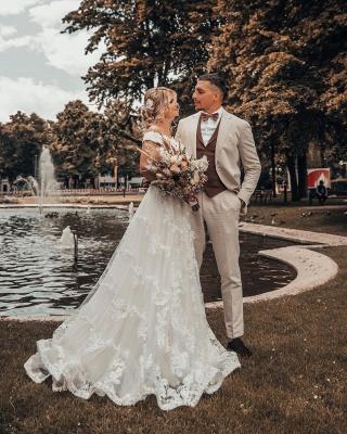 Robes de mariée de créateurs Une ligne de dentelle | Mode nuptiale en ligne_4