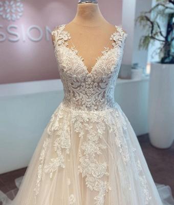 Robes de mariée pas chères avec dentelle | Robes de mariée Une ligne_4