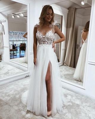 Robes de mariée simples avec dentelle | Acheter des robes de mariée pas chères_2