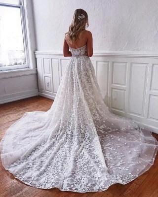 Superbes robes de mariée en dentelle | Robes de mariée blanches Une ligne_2