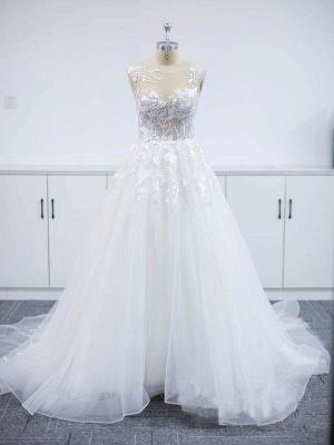 Robes de mariée modernes A Line Lace   Robes De Mariée Pas Cher En Ligne_3