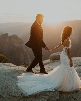 Robes de mariée de créateur sirène   Robes de mariée avec dentelle_2