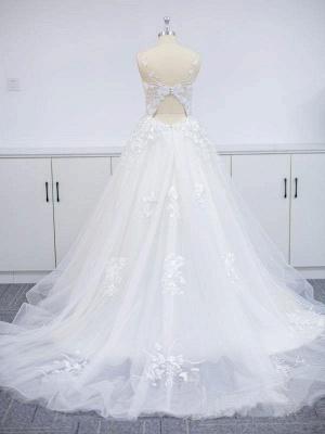 Robes de mariée modernes A Line Lace   Robes De Mariée Pas Cher En Ligne_4