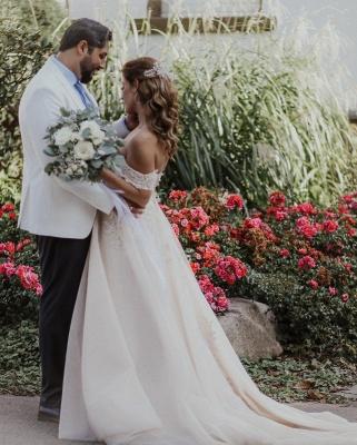 Robes de mariée Boho Une ligne | Robes de mariée avec dentelle_2