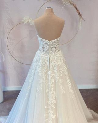 Belles robes de mariée Une ligne en dentelle | Robes De Mariée Pas Cher En Ligne_2