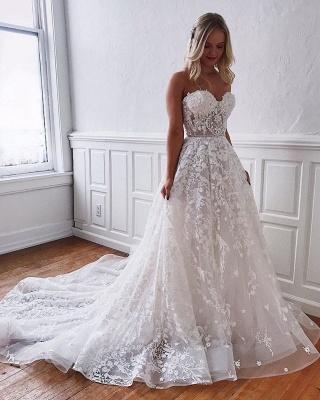 Superbes robes de mariée en dentelle | Robes de mariée blanches Une ligne_4