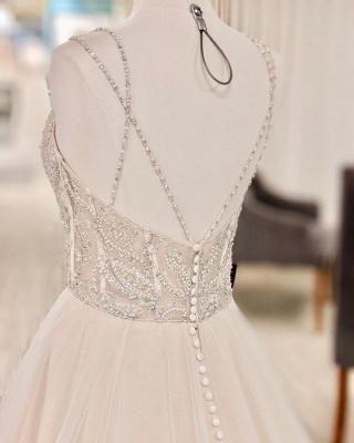 Belles robes de mariée Une ligne | Robes de mariée paillettes_3