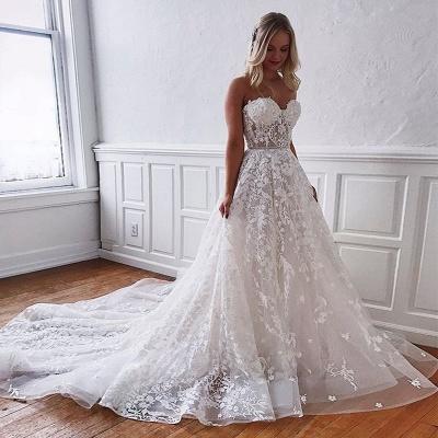 Superbes robes de mariée en dentelle | Robes de mariée blanches Une ligne_3