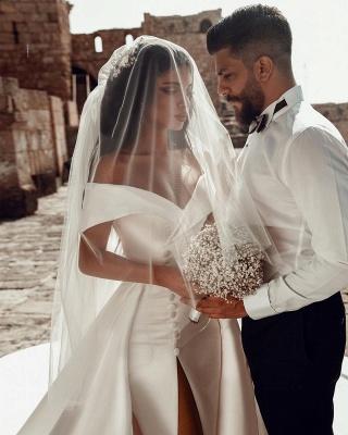 Robes de mariée en satin Une ligne | Robes De Mariée Pas Cher En Ligne_4