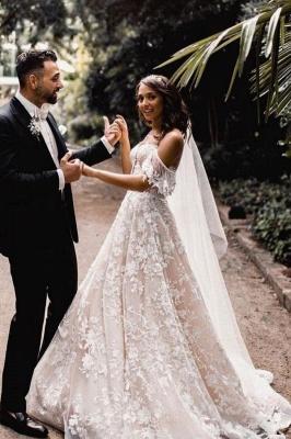 Robes de mariée Une ligne en dentelle   Acheter des robes de mariée pas chères_1
