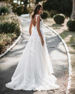 Robes de mariée Boho Une ligne de dentelle | Robes de mariée pas cher en ligne_2