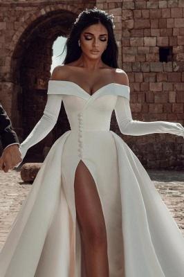 Robes de mariée en satin Une ligne | Robes De Mariée Pas Cher En Ligne_2