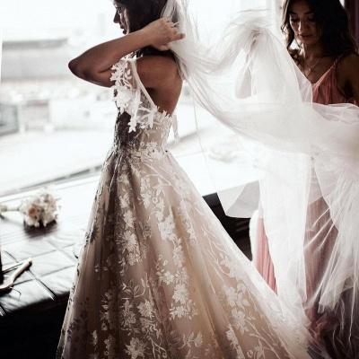 Robes de mariée Une ligne en dentelle   Acheter des robes de mariée pas chères_4