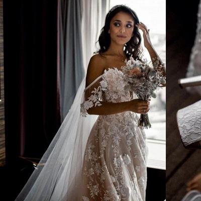 Robes de mariée Une ligne en dentelle   Acheter des robes de mariée pas chères_3